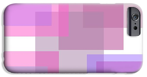 Pastel Tapestries - Textiles iPhone Cases - Pastel Squares iPhone Case by Sharon Johnston