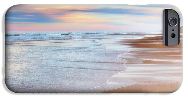 Ocean Sunset iPhone Cases - Pastel Sunset iPhone Case by Bill Wakeley