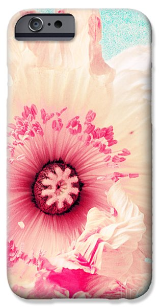 Close Up Floral Mixed Media iPhone Cases - Pastell poppy iPhone Case by Angela Doelling AD DESIGN Photo and PhotoArt