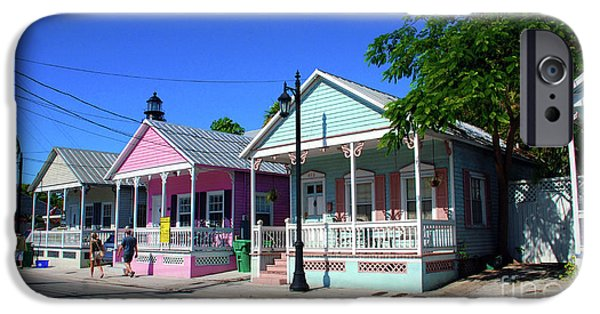 Florida House Photographs iPhone Cases - Pastels of Key West iPhone Case by Susanne Van Hulst