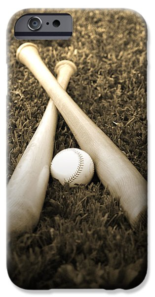 Sports iPhone Cases - Pastime iPhone Case by Shawn Wood