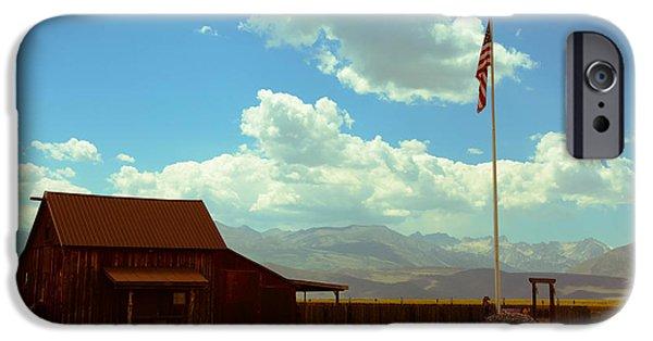 American Flag iPhone Cases - Pastoral Patriotism iPhone Case by Noelle  Short