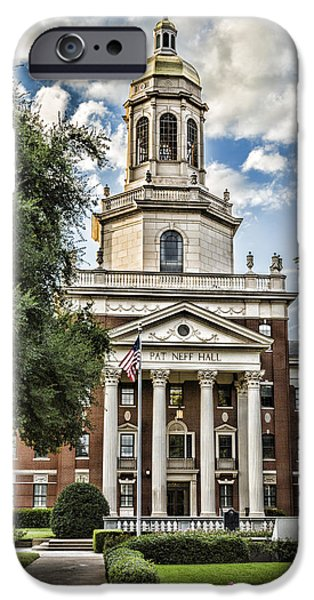 Buildings iPhone Cases - Pat Neff Hall - Baylor #4 iPhone Case by Stephen Stookey