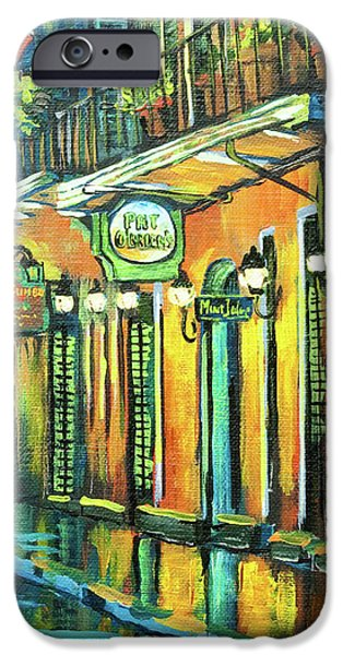 French Quarter Paintings iPhone Cases - Pat O Briens iPhone Case by Dianne Parks