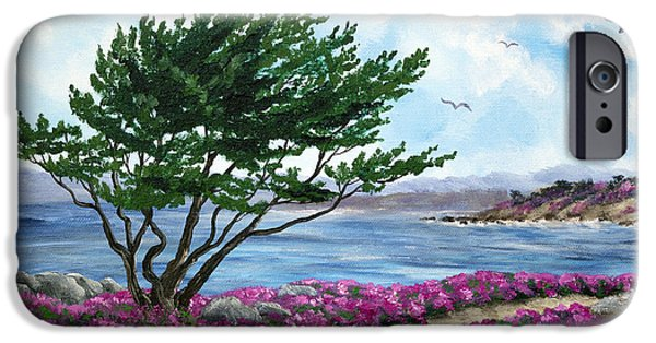 Cypress Trees iPhone Cases - Path by a Cypress Tree in May iPhone Case by Laura Iverson