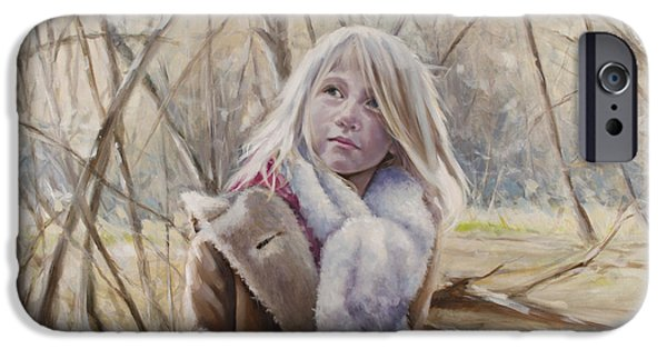 Little Girl iPhone Cases - Path of Light iPhone Case by Laura Ury