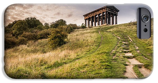 Pathway iPhone Cases - Path to Penshaw Monument iPhone Case by David Head