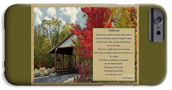Pathway iPhone Cases - Pathway of Choices iPhone Case by Bobbee Rickard