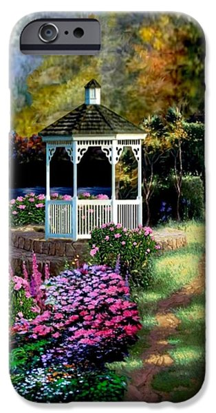 A Summer Evening Paintings iPhone Cases - Pathway to Heaven iPhone Case by Ronald Chambers