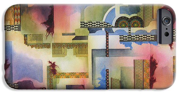 Pathway Mixed Media iPhone Cases - Pathways iPhone Case by Deborah Ronglien