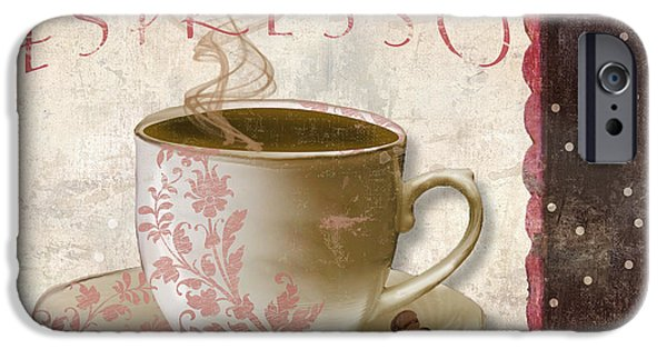 Espresso Paintings iPhone Cases - Patisserie Cafe Espresso iPhone Case by Mindy Sommers