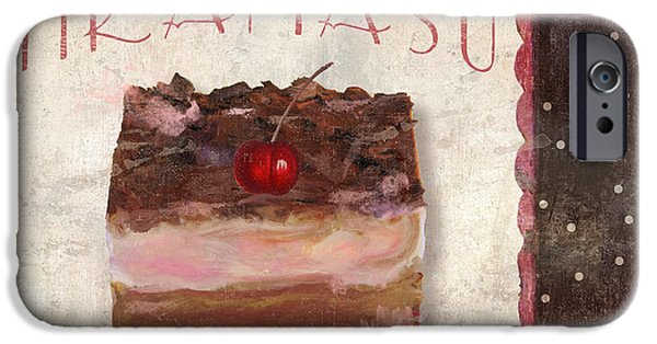 Espresso Paintings iPhone Cases - Patisserie Tiramasu  iPhone Case by Mindy Sommers