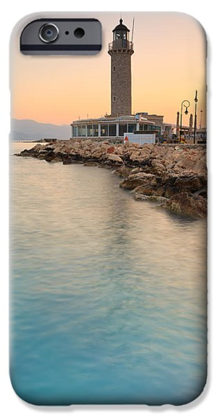 Lighthouse iPhone Cases - patras lighthouse III iPhone Case by Milan Gonda