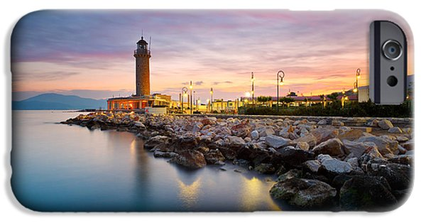 Lighthouse iPhone Cases - patras lighthouse IV iPhone Case by Milan Gonda
