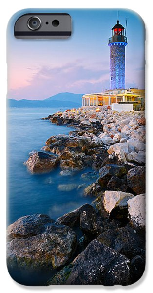Lighthouse iPhone Cases - patras lighthouse V iPhone Case by Milan Gonda
