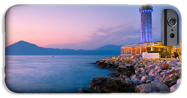 Lighthouse iPhone Cases - patras lighthouse VI iPhone Case by Milan Gonda