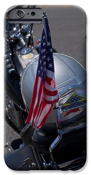 Patriots iPhone Cases - Patriot Guard Riders iPhone Case by Lucinda Walter