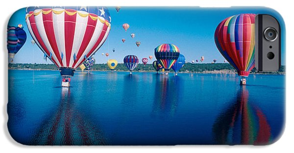 Hot Air Balloon iPhone Cases - Patriotic Hot Air Balloon iPhone Case by Jerry McElroy