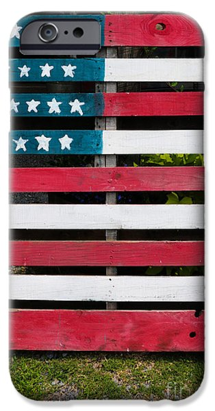 Fourth Of July iPhone Cases - Patriotic Pallets iPhone Case by Thomas Marchessault