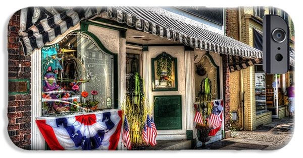 4th July Photographs iPhone Cases - Patriotic Street iPhone Case by Debbi Granruth