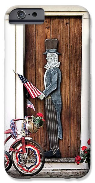 4th July iPhone Cases - Patriotism iPhone Case by Janice Drew