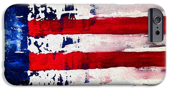 Fourth Of July iPhone Cases - Patriots Theme iPhone Case by Charles Jos Biviano