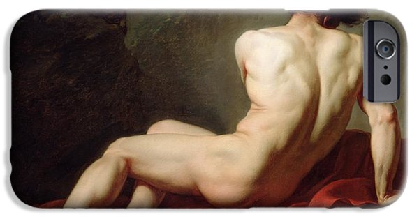 David iPhone Cases - Patrocles iPhone Case by Jacques Louis David