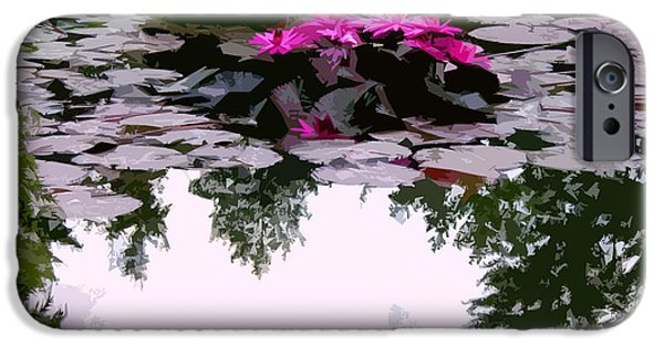 Reflection In Water iPhone Cases - Patterns of Peace iPhone Case by John Lautermilch