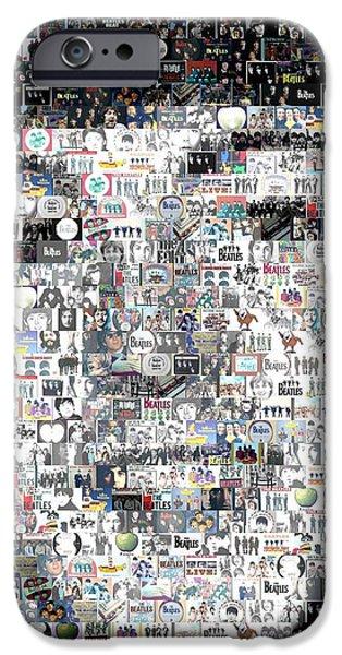 Fab Four iPhone Cases - Paul McCartney Beatles Mosaic iPhone Case by Paul Van Scott
