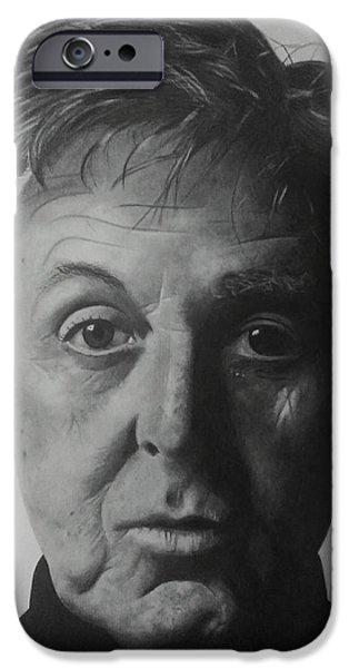 Beatles iPhone Cases - Paul McCartney iPhone Case by John Wood