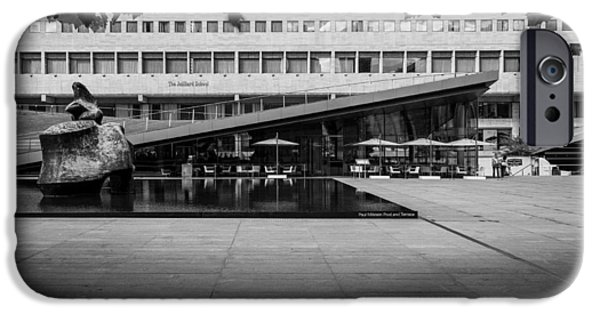 Lincoln iPhone Cases - Paul Milstein Pool and Terrace, Hearst Plaza iPhone Case by Stephen Shilling II