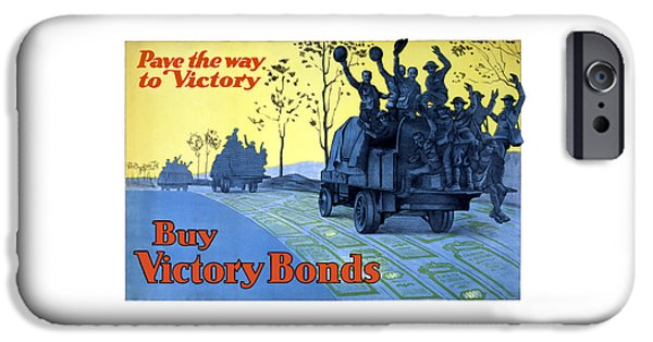 First World War iPhone Cases - Pave The Way To Victory iPhone Case by War Is Hell Store