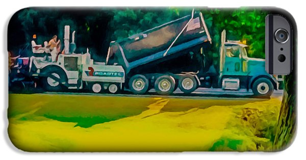 Recently Sold -  - Asphalt iPhone Cases - Paving Crew 2 iPhone Case by Lanjee Chee
