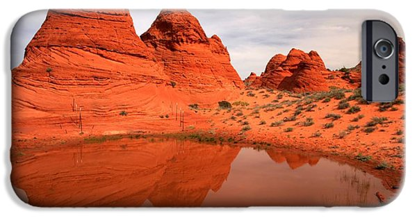 Holes In Sandstone iPhone Cases - Paw Hole Buttes iPhone Case by Adam Jewell