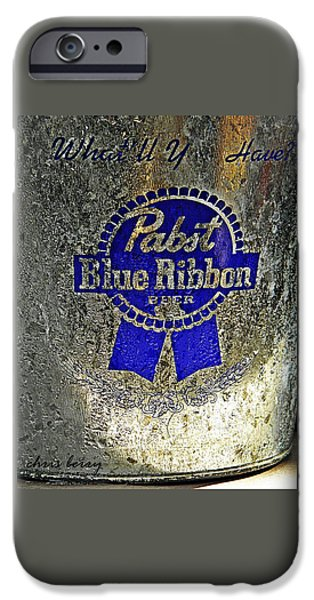 PBR  Bucket O Beer  iPhone Case by Chris Berry