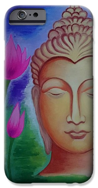 Normal Paintings iPhone Cases - Peace iPhone Case by Aakash Pawar