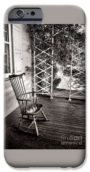 Rocking Chairs Photographs iPhone Cases - Peace and Quiet iPhone Case by Olivier Le Queinec