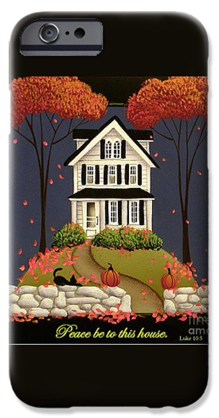 Peace be to this house iPhone Case by Catherine Holman