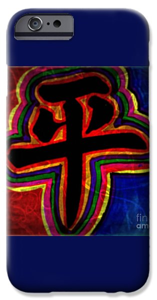 Peace, Chinese Symbol iPhone Case by WBK