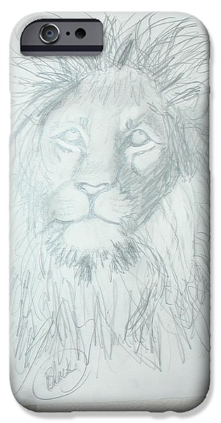 Animal Drawings iPhone Cases - Peace In The Valley iPhone Case by Sharyn Winters