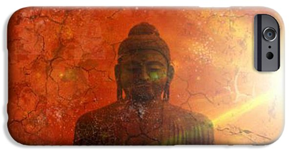 Siddharta iPhone Cases - Peace iPhone Case by Michelle Foster