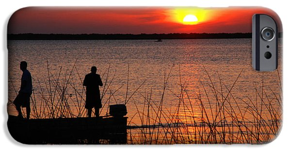 Sunset At The Lake iPhone Cases - Peace over the water iPhone Case by Susanne Van Hulst