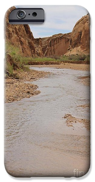 Slickrock iPhone Cases - Peaceful Canyon View 4 iPhone Case by Tonya Hance