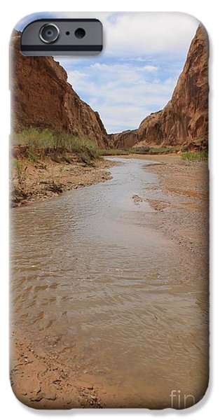 Slickrock iPhone Cases - Peaceful Canyon View 5 iPhone Case by Tonya Hance