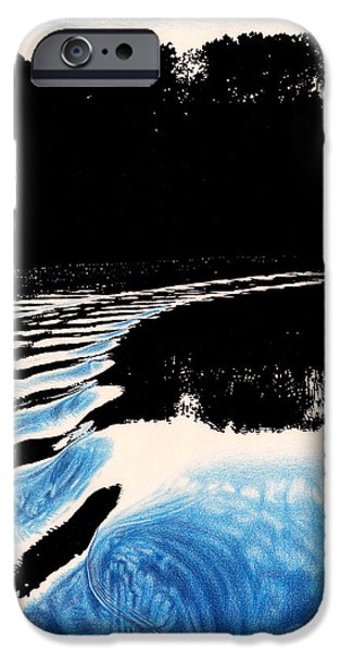Monotone Drawings iPhone Cases - Peaceful Disruption iPhone Case by Kylee Szczepaniuk