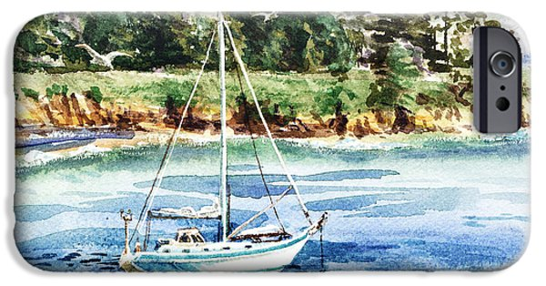 Sailboat Ocean iPhone Cases - Peaceful Morning Reflections iPhone Case by Irina Sztukowski