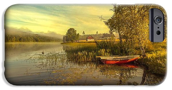 Fog Mist iPhone Cases - Peaceful Morning iPhone Case by Rose-Maries Pictures