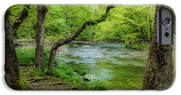 Tennessee River iPhone Cases - Peaceful Scene iPhone Case by Sandy Keeton