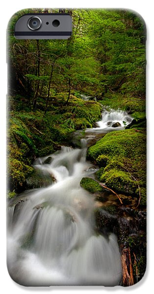 North Cascades iPhone Cases - Peaceful Stream iPhone Case by Mike Reid