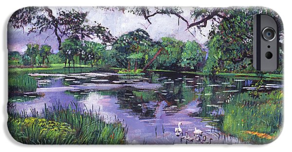 Swans... iPhone Cases - Peacefull Lake iPhone Case by David Lloyd Glover